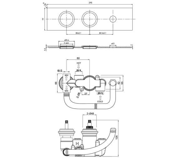 Technical drawing QS-V63598 / SV043SQ