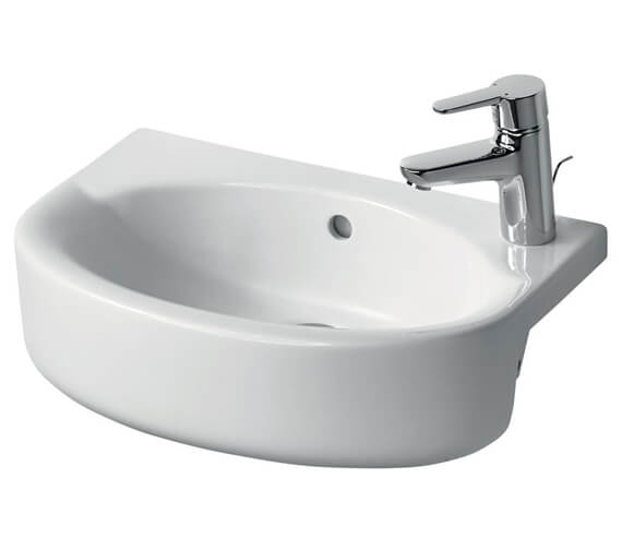 Additional image of Ideal Standard Concept Space Left Hand Taphole 500mm Arc Semi-Countertop Basin
