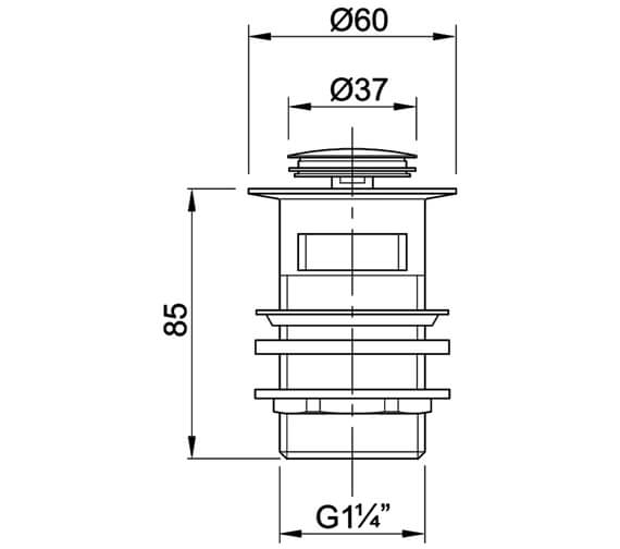 Technical drawing QS-V89032 / WF4350CP