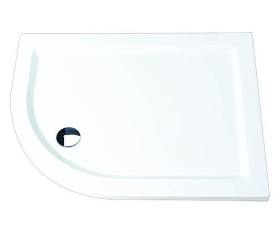 Additional image of Aqualux 1200 x 800mm Aqua 55 Offset Quadrant Tray Left Hand