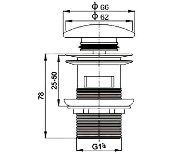 Technical drawing QS-V29498 / 530s