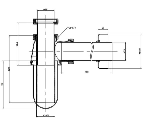 Technical drawing QS-V17157 / BTR0403C