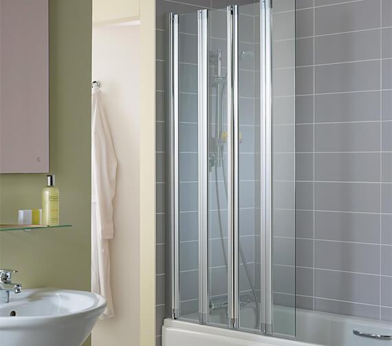 Ideal Standard New Connect 820 x 1500mm 4 Panel Folding Bath Screen