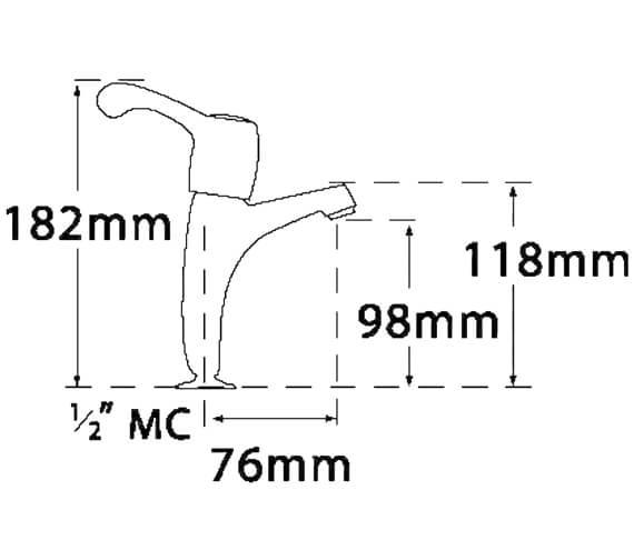 Technical drawing QS-V73947 / 3613