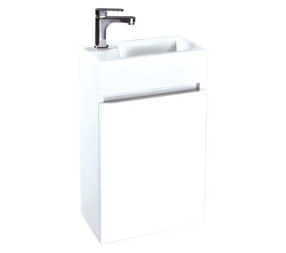 Phoenix Verve 400mm White Unit And Mineral Cast Basin