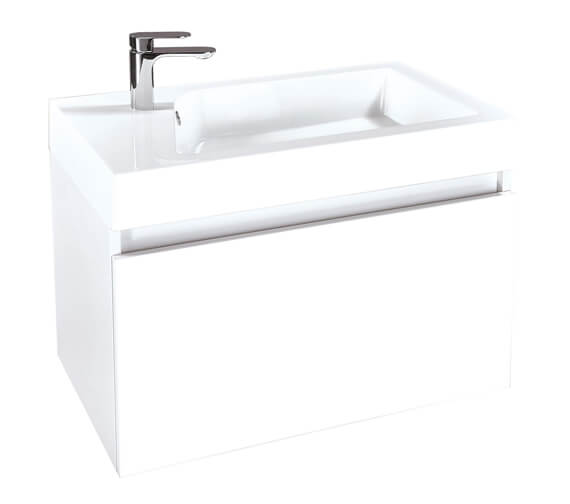 Phoenix Verve 800mm White Wall Hung Unit And Mineral Cast Basin