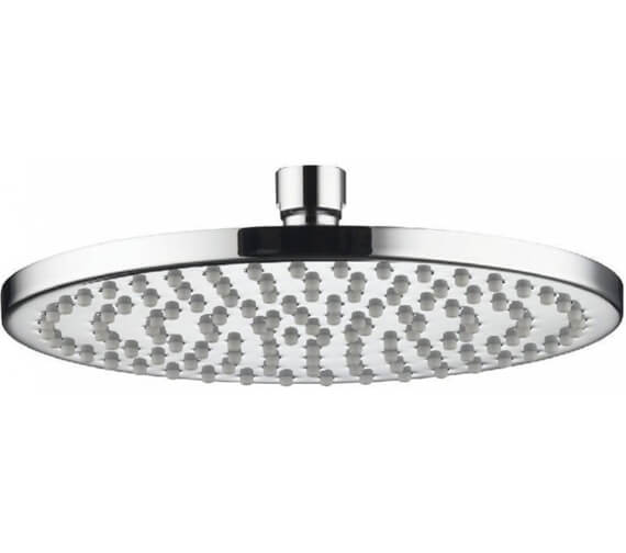 Aqualisa Thin Round Metal Fixed 200mm Shower Head - 300mm Size Optional