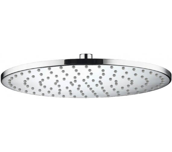 Alternate image of Aqualisa Thin Round Metal Fixed 200mm Shower Head - 300mm Size Optional