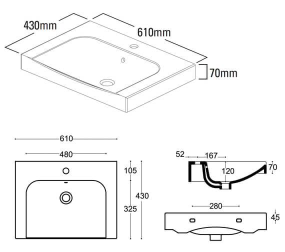 Technical drawing QS-V41707 / BRE600C