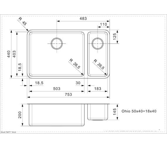 Technical drawing QS-V94072 / OHIO 18X40+50X40 L