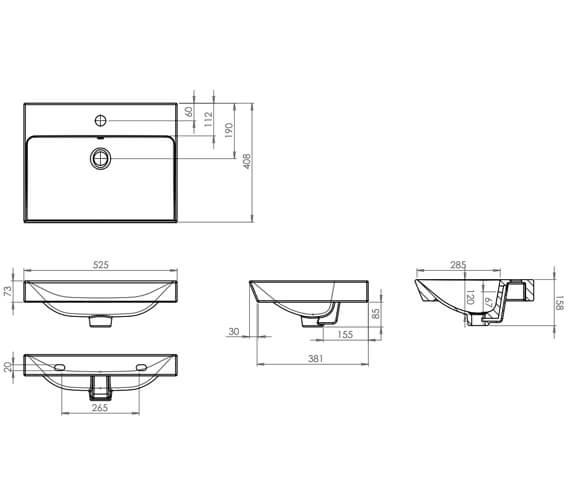 Technical drawing QS-V4832 / SCH500C