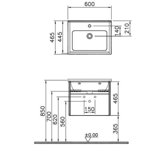Technical drawing QS-V63128 / 54736