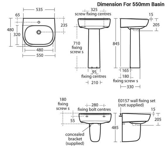 Additional image of Ideal Standard Jasper Morrison 500mm 1 Tap Hole Basin
