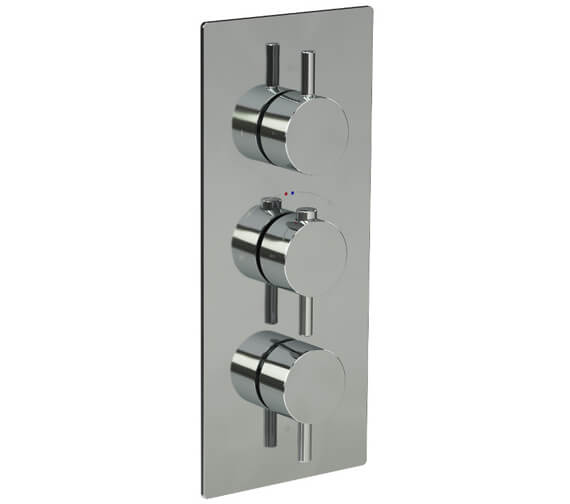 Saneux Cos Concealed Two Way Thermostatic Portrait Valve With Stopcocks
