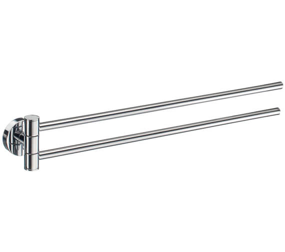 Smedbo Home 440mm Polished Chrome Swing Arm Towel Rail