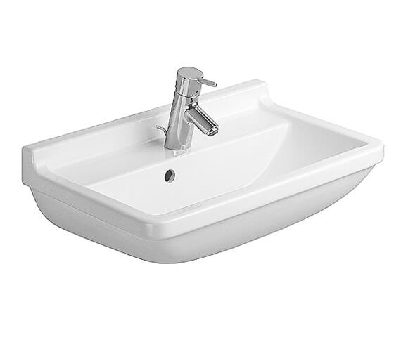 Additional image of Duravit Starck 3 1 Taphole Compact Washbasin