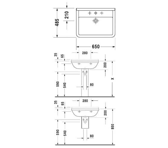 Technical drawing QS-V49550 / 0300500000