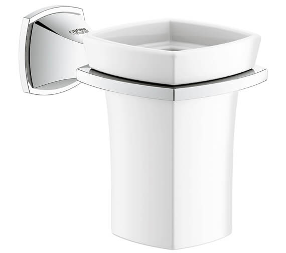 Grohe Spa Grandera Ceramic Tumbler With Chrome Holder