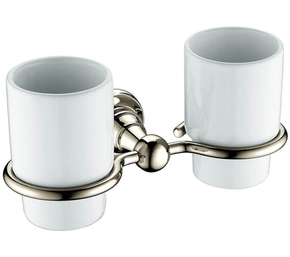 Alternate image of Heritage Holborn Double Tumblers And Chrome Holder