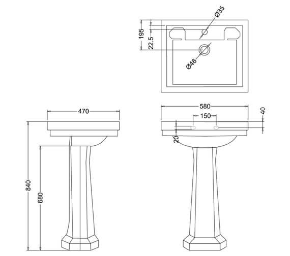 Technical drawing QS-V74075 / B1 1TH