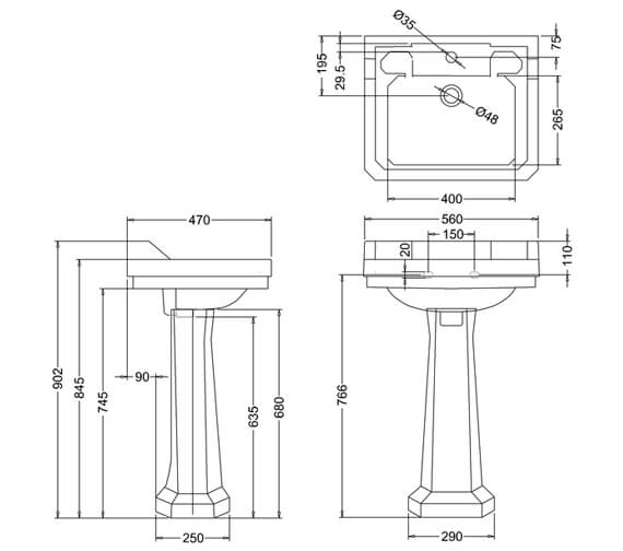 Technical drawing QS-V74054 / B4 1TH
