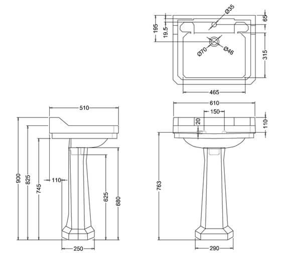 Technical drawing QS-V74049 / B5 1TH