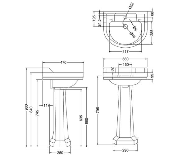 Technical drawing QS-V74062 / B6 1TH