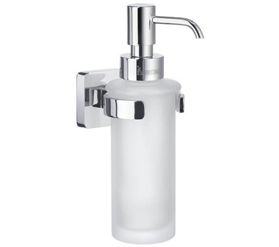 Smedbo Ice Polished Chrome Holder And Frosted Glass Soap Dispenser