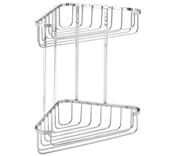 Croydex Wire Large Two Tier Corner Basket Mild Steel