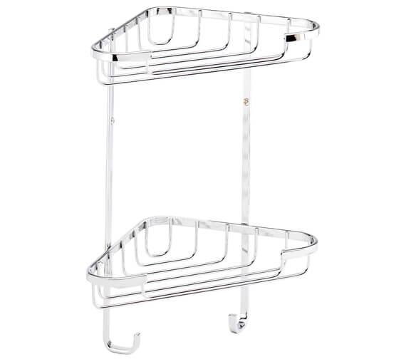 Croydex Stainless Steel 2 Tier Corner Basket Small
