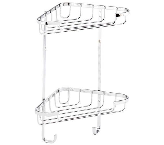 Alternate image of Croydex Stainless Steel 2 Tier Corner Basket Small
