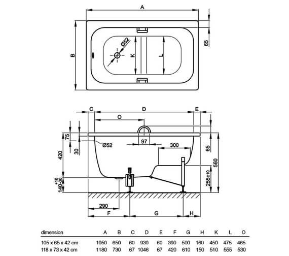 Technical drawing QS-V41160 / 1050 000