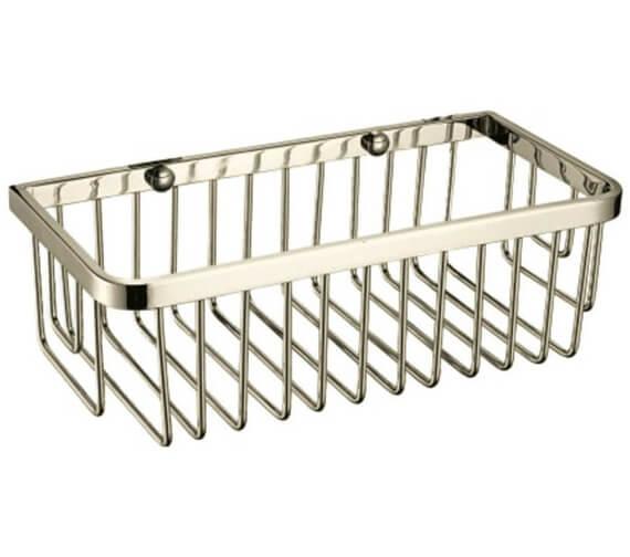 Alternate image of Heritage 250 x 120mm Chrome Rectangular Wire Basket Chrome