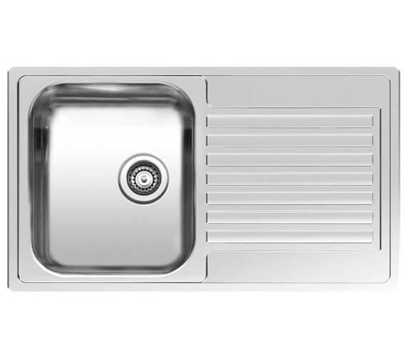 Reginox Centurio L10 Stainless Steel Integrated Sink 850 x 490mm