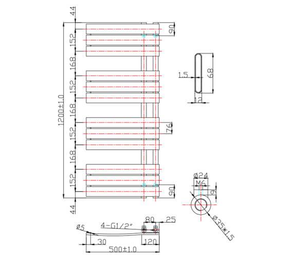 Technical drawing QS-V6551 / EA193