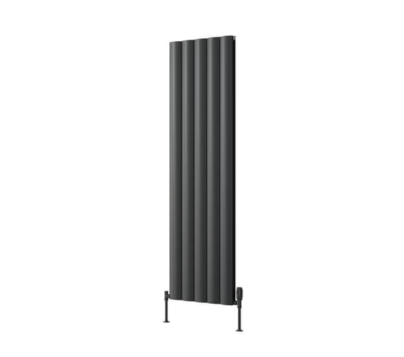 Additional image of Reina Belva 1800mm High Single Panel Aluminium Radiator White and Anthracite Finish