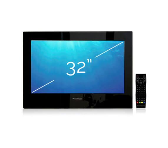 ProofVision 32 Inch Premium Widescreen Waterproof Bathroom TV - Black