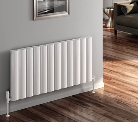 Reina Belva 600mm High Double Panel Aluminium Radiator White Or Anthracite Finish Available