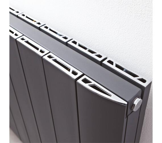 Alternate image of Phoenix Urban 748 x 600mm White Aluminium Horizontal Radiator