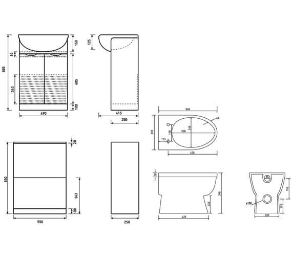 Technical drawing QS-V6733 / FU090