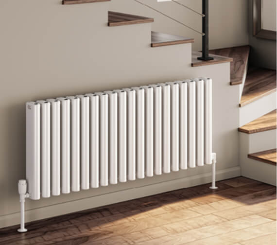 Reina Alco 600mm High Horizontal Aluminium Radiator In White Or Anthracite Finish