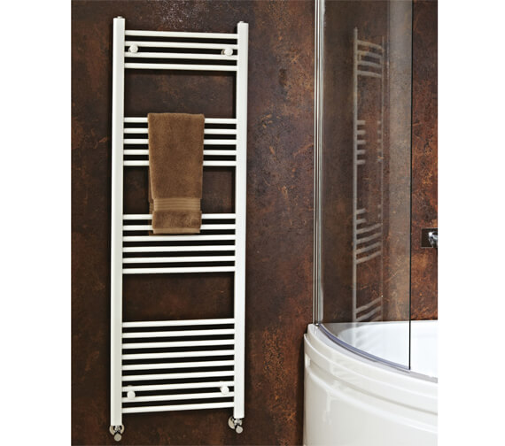 Phoenix Flavia 300 x 1800mm White Straight Pre Filled Electric Towel Rail