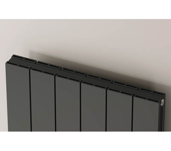 Additional image of Reina Casina 1800mm High Single Panel Aluminium Radiator White Or Anthracite Finish