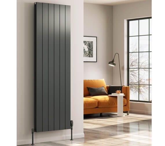 Reina Casina 1800mm High Single Panel Aluminium Radiator White Or Anthracite Finish