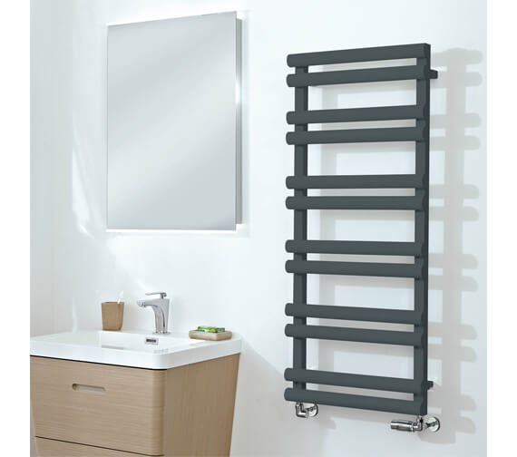 Phoenix Totu 500 x 800mm Pre-Filled Electric Radiator Anthracite