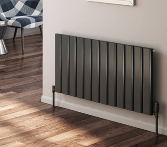 Alternate image of Reina Vicari 600mm High Single Horizontal Aluminium Radiator