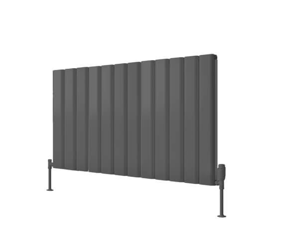 Alternate image of Reina Vicari 600mm High Double Panel Aluminium Radiator White Or Anthracite Finish