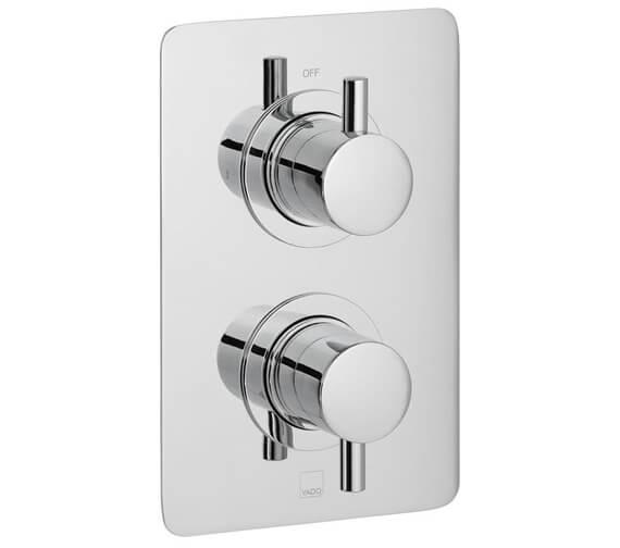 Vado Celsius Square Concealed 1 outlet 2 Handle Thermostatic Shower Valve