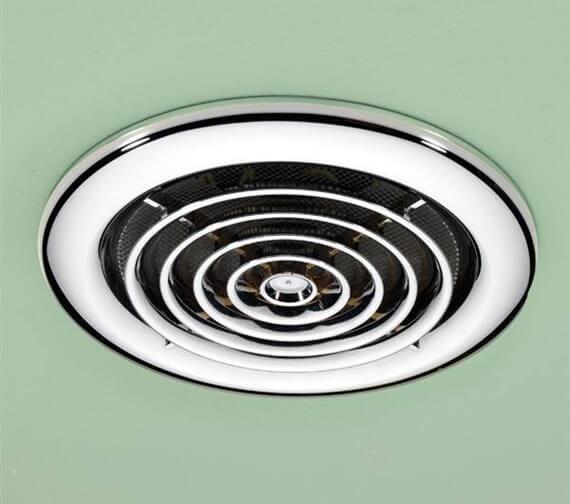 Alternate image of HIB Turbo Bathroom Inline Extractor Fan White
