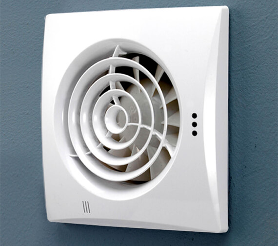 HiB Hush White Safety Extra Low Voltage Extractor Fan